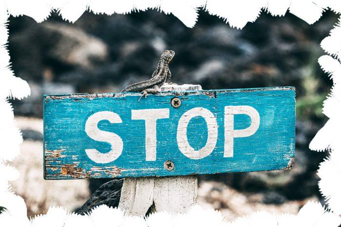 STOP Photo by Jose Aragones on Unsplash